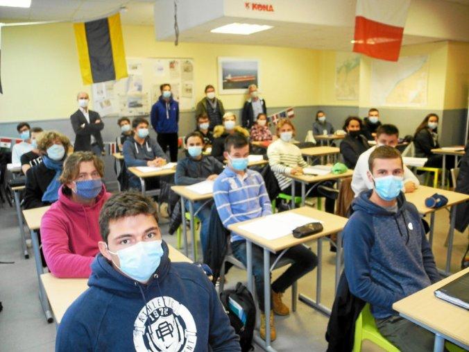 Au lycée Kersa de Ploubazlanec, Thomas Levillain parrain de la nouvelle promotion